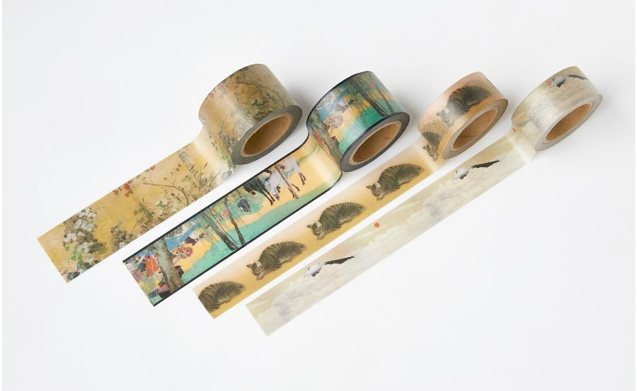 日本がが描かれたマスキングテープ