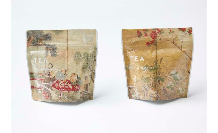 煎茶とほうじ茶のパッケージ