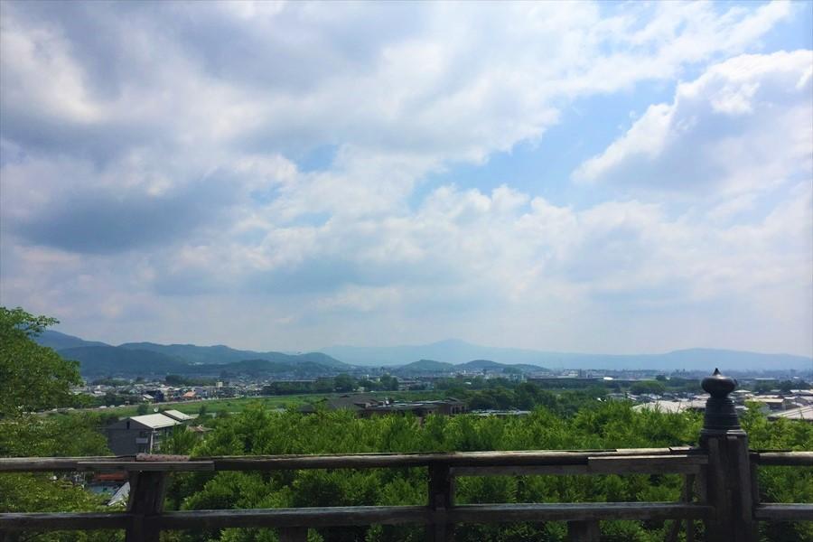 法輪寺の舞台から見る嵐山地区の遠景