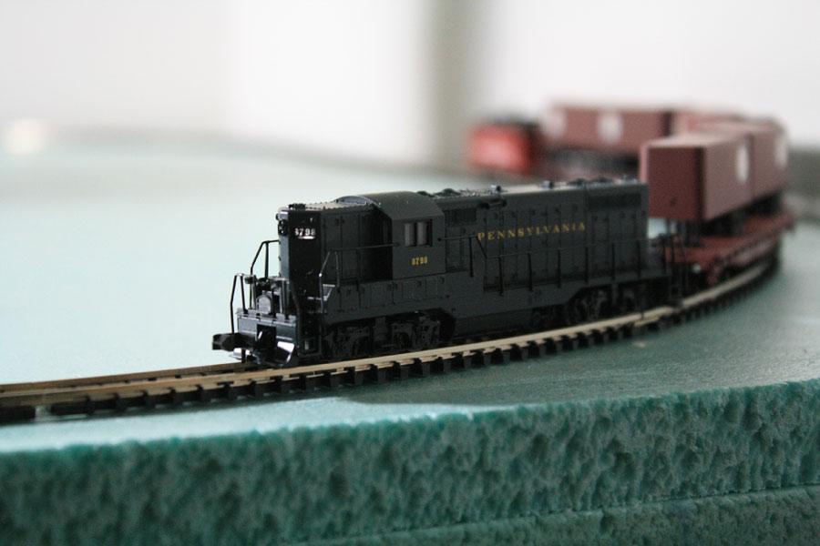 貨物列車の模型