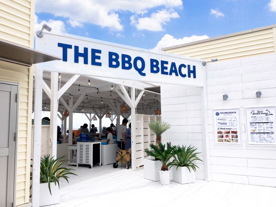 THE BBQ BEACH in Marble Beachのエントランス