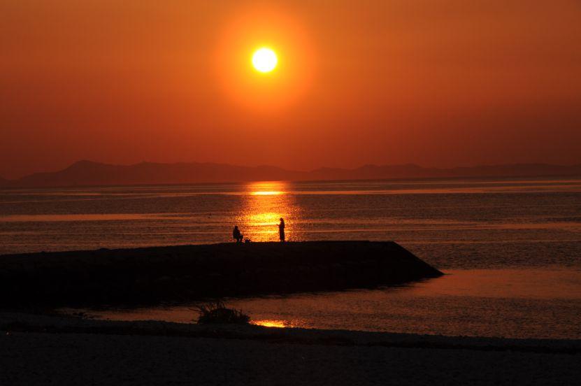 夕陽百選に認定される美しい景色