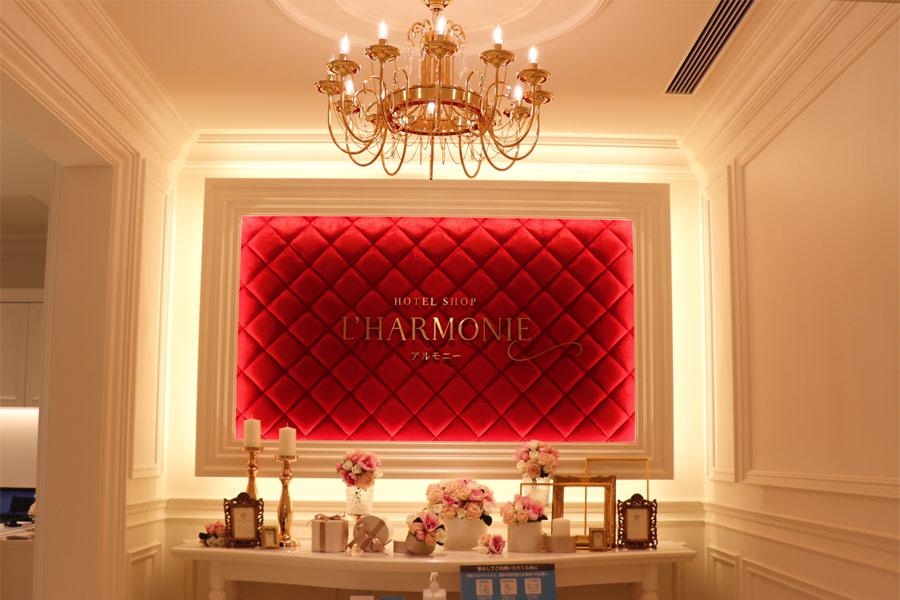 宝塚ホテル内のショップのゴージャスな入口