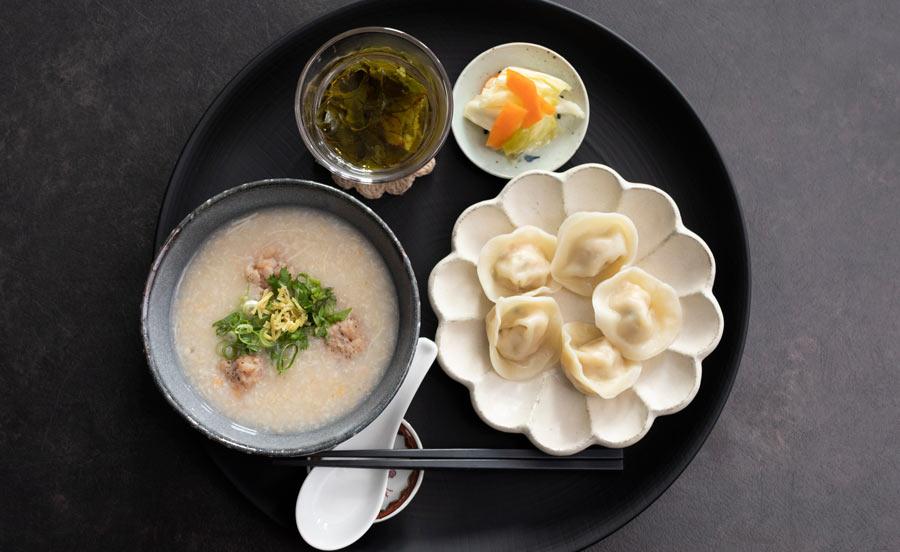 ティムマッマッの香港粥セット