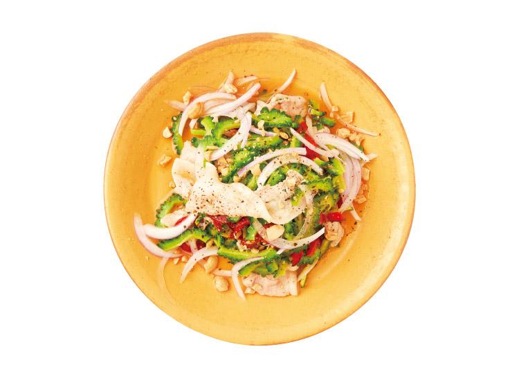 皿に盛られた温しゃぶサラダ