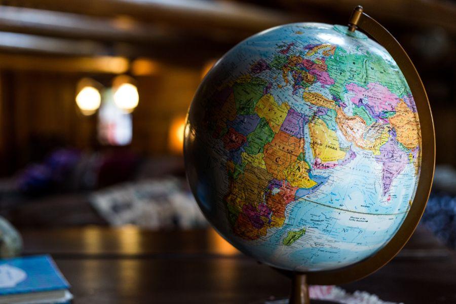 世界を表す地球儀