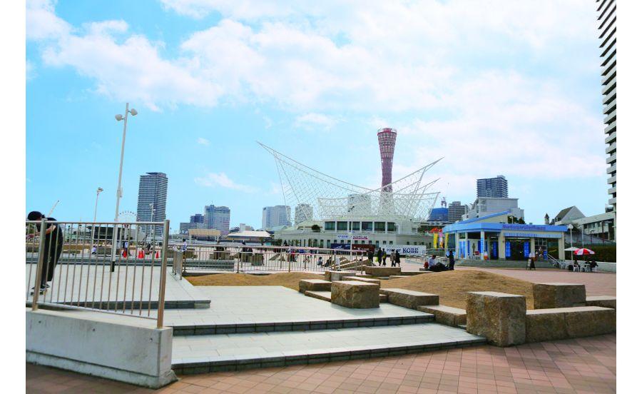 神戸のシンボルが数々ある神戸メリケンパーク