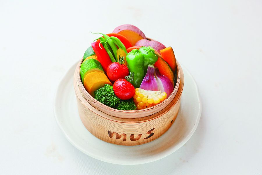 彩りキレイな旬野菜のセイロ蒸し