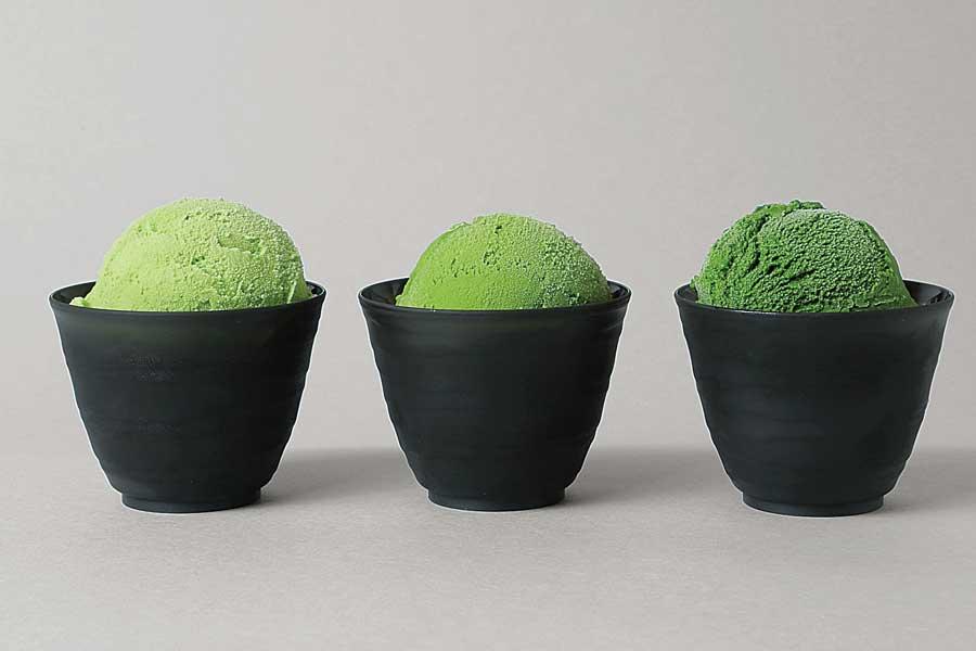 3種類の抹茶アイス