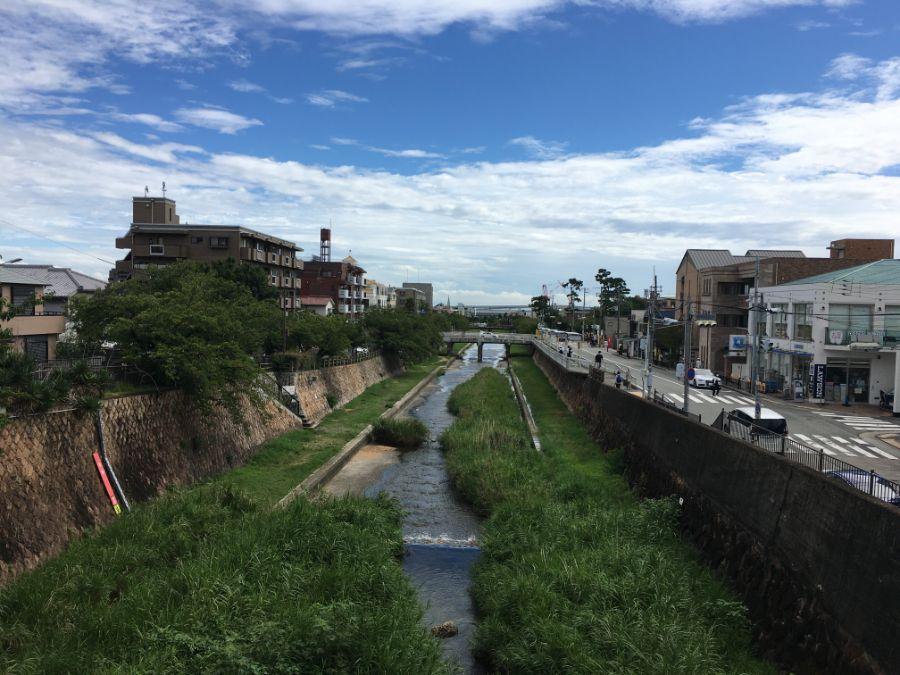 芦屋川の風景
