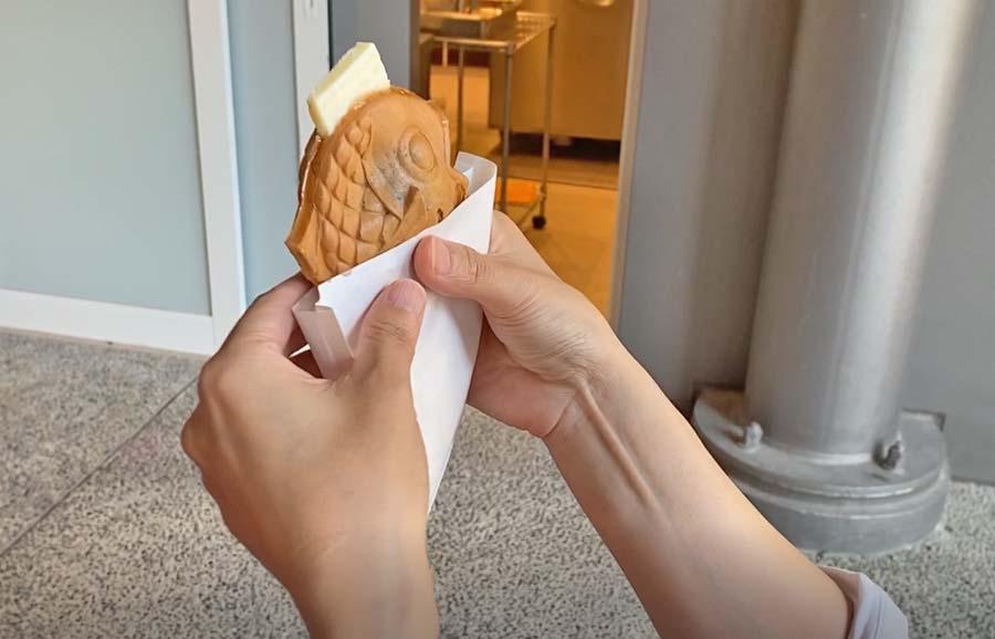 まめものとたい焼きのあんバターたい焼き