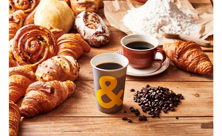 アンドコーヒー メゾンカイザーのコーヒーとパン