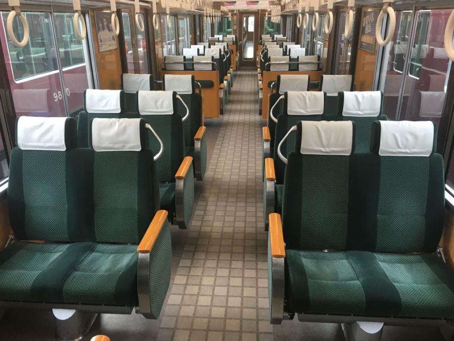 阪急電車のクロスシート