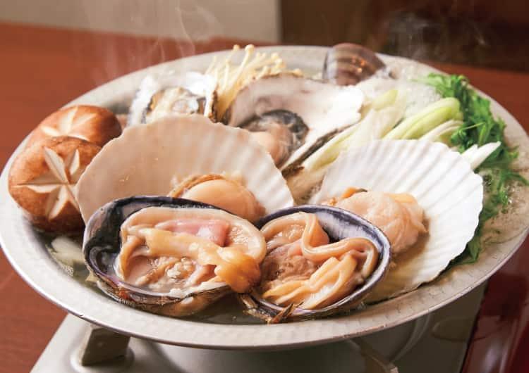 貝たっぷりの鍋