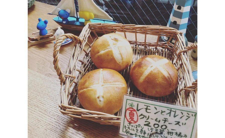 レモンとオレンジクリームチーズのパン