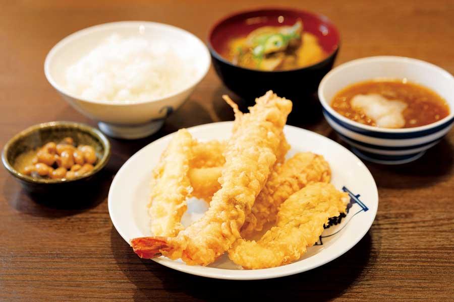 天ぷらのランチ定食