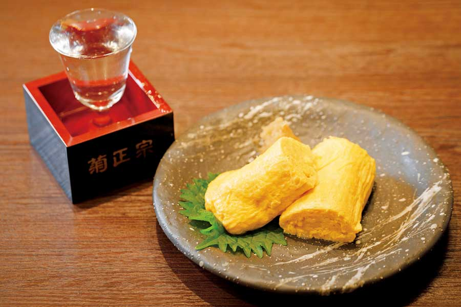 出汁巻きと日本酒
