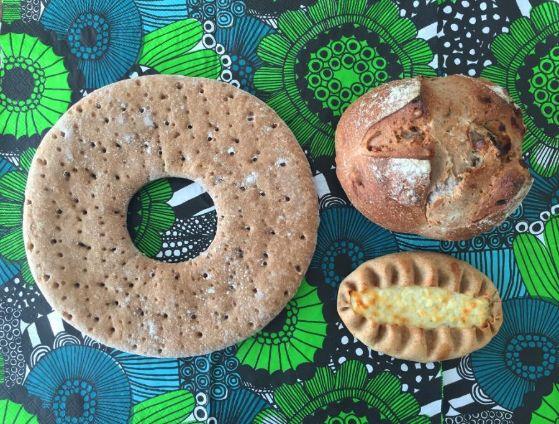 キートスの3種類のパン