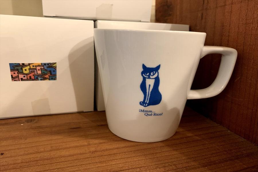 店のロゴマークを使ったマグカップ