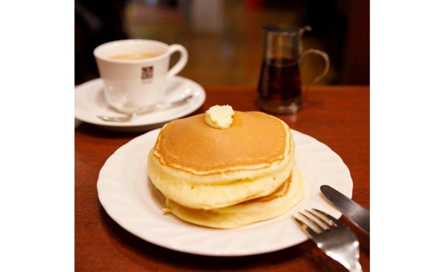 珈琲専門店サンシャインのホットケーキ