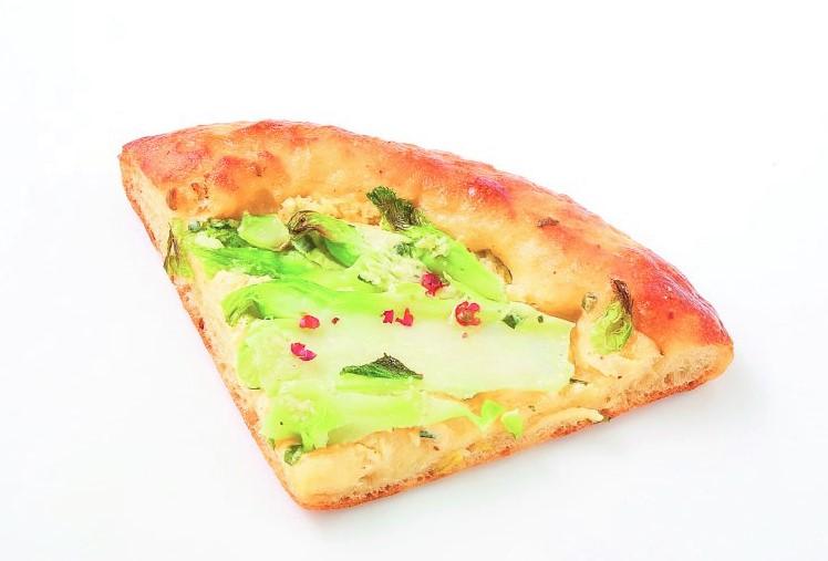 ブランジェリー コム・シノワのつぼみ菜のハーブチーズピザ