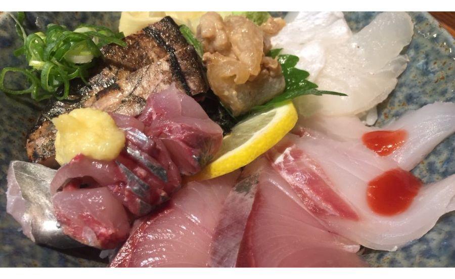 魚どん 然の刺身