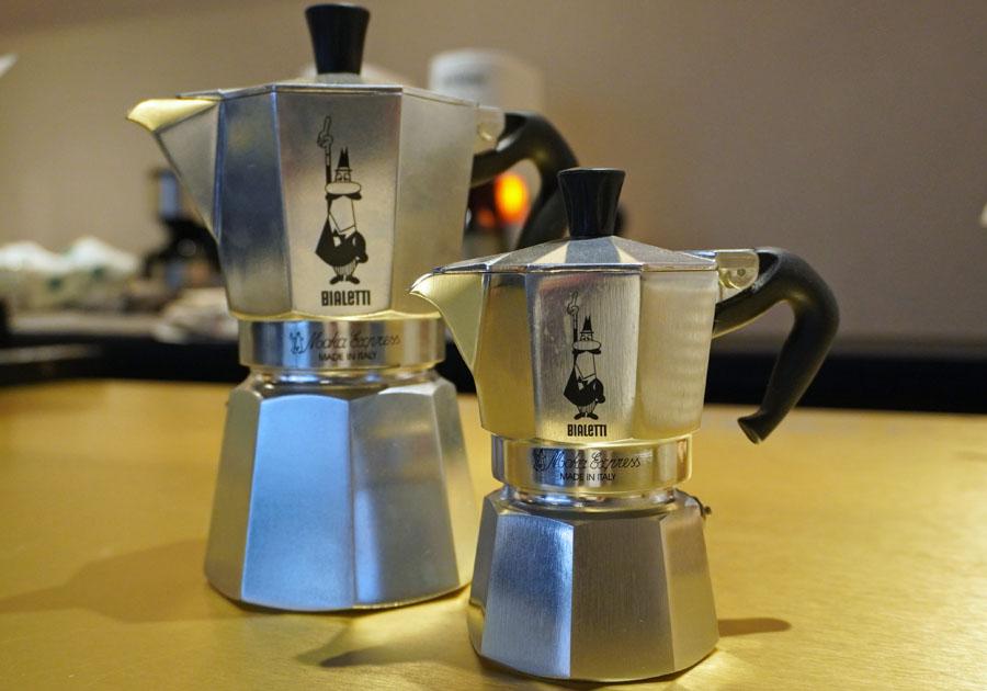 モカエクスプレスはイタリアの家庭には1つはあるというコーヒーの道具