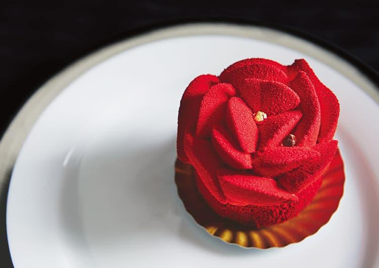 ラクロワのバラのケーキ