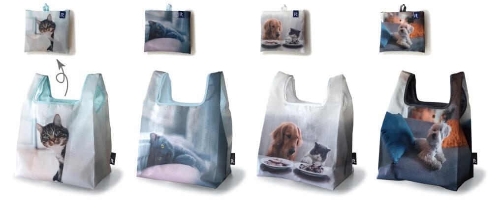猫や犬をデザインしたミッドリフティの写真