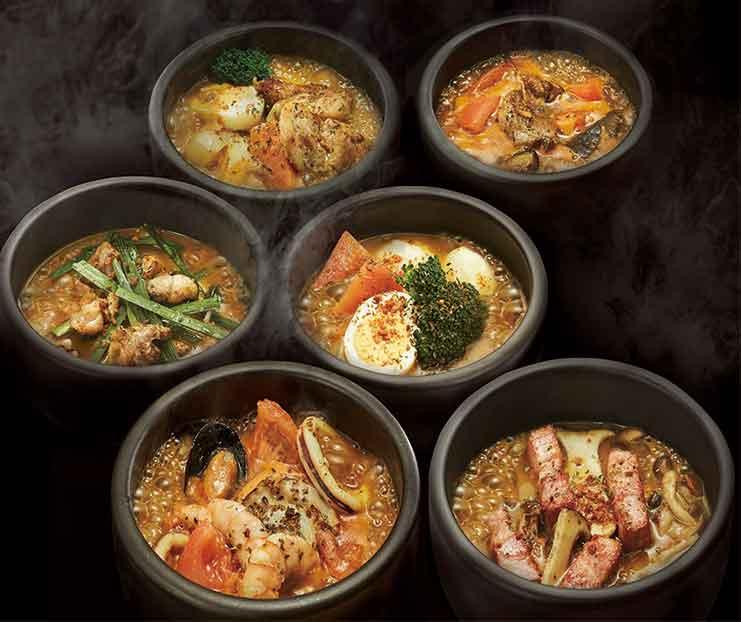 6種類のスープカレー