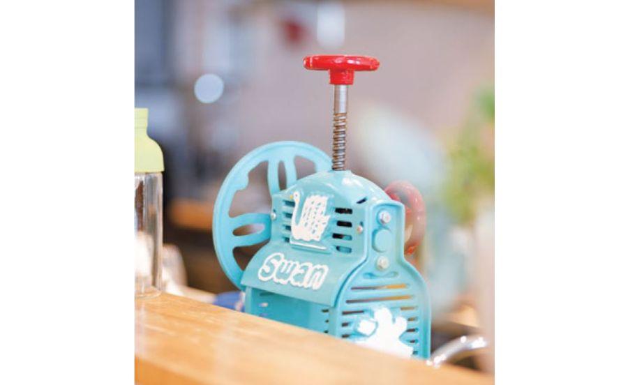 茶ら咲のかき氷マシン