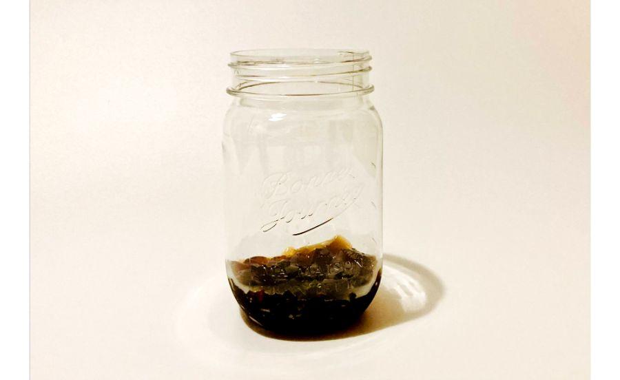 容器に入れたコーヒーゼリー